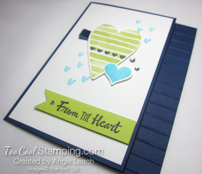 Heart Happiness Cool Collage - navy 2