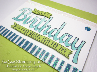 Birthday wishes for you sequins - lime 3