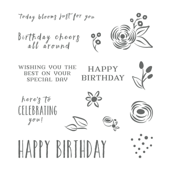Perennial birthday stamp 145760G