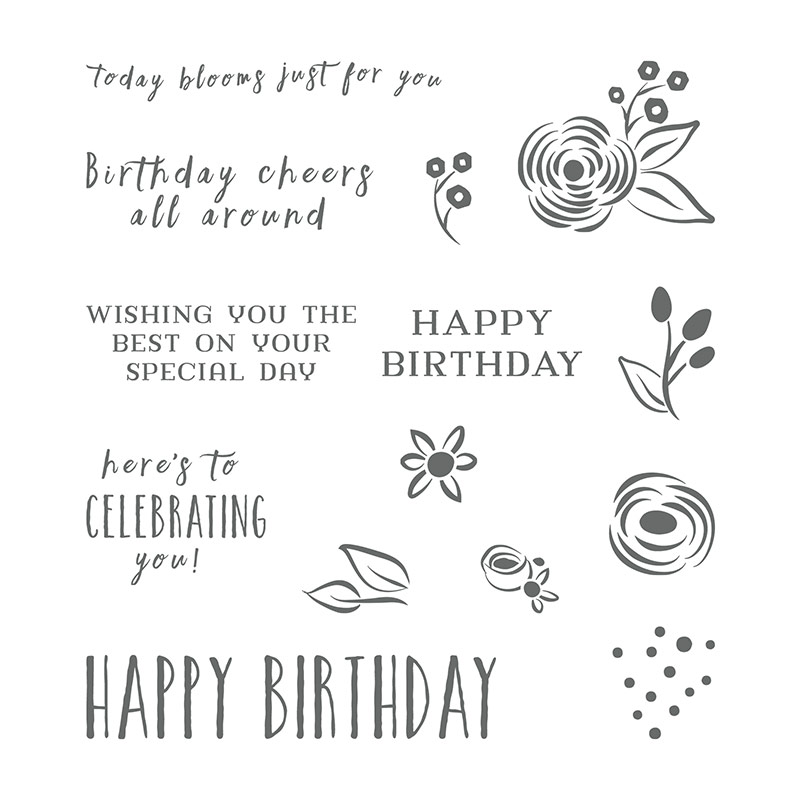 Perennial birthday stamp 145760G