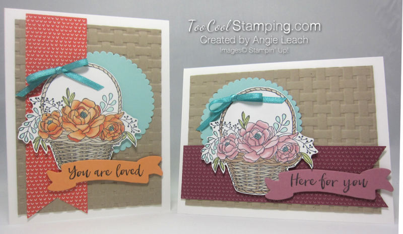 Blossoming basket banner - two cool