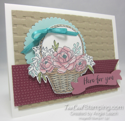 Blossoming basket banner - sugarplum