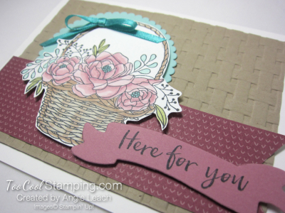 Blossoming basket banner - sugarplum 2
