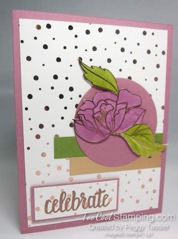 Peggy - springtime foils die-cut flower