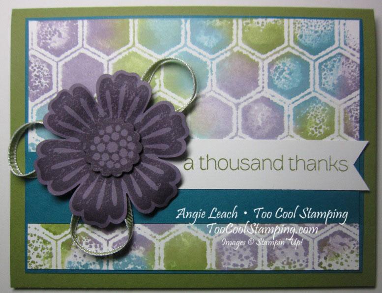 Stamped embossing folder - honeycomb
