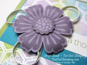 Stamped embossing folder - honeycomb2