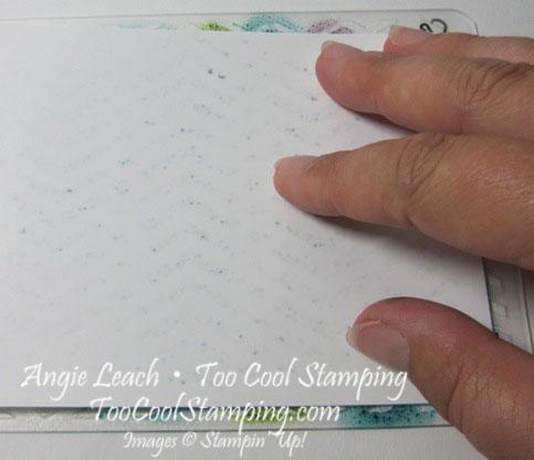 Stamped embossing folder - step 3