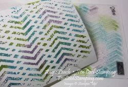 Stamped embossing folder - step 4