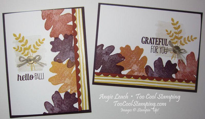 Oak leaf border - two cool