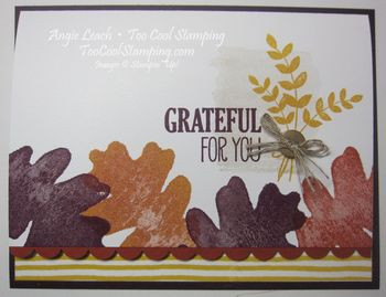 Oak leaf border - grateful for you