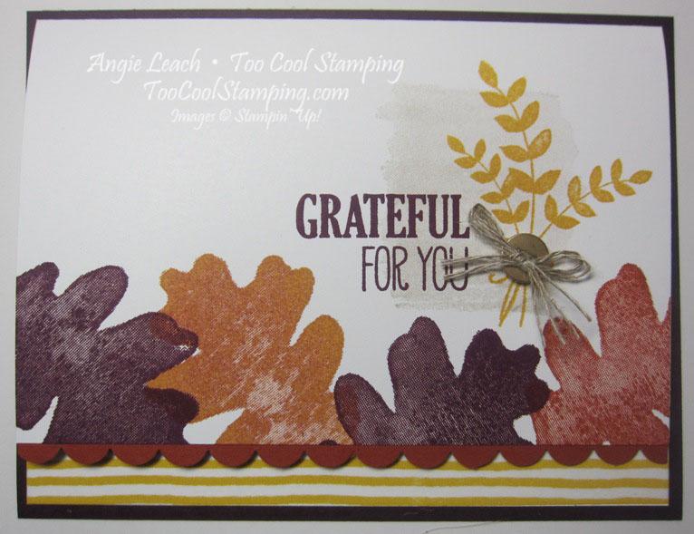 Oak leaf border - grateful for you