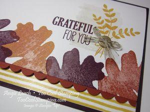 Oak leaf border - grateful for you2