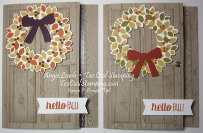 Fall wreath - two cool