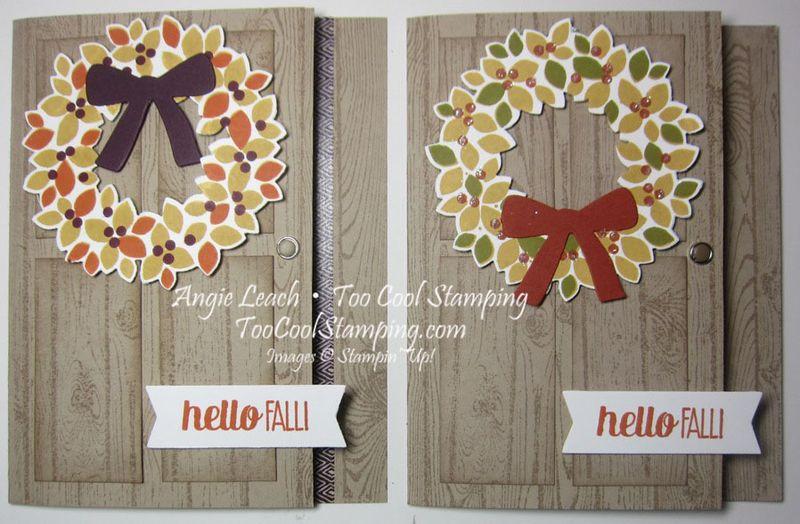 Fall wreath - two cool