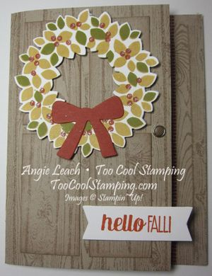 Fall wreath - tangelo