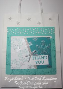 Letterpress snowflake card hanger
