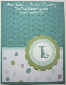 All is calm monogram - 2 lagoon dots fan
