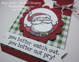 Santa on - watch out tag