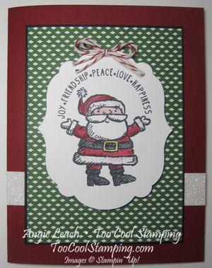 Santa label - green
