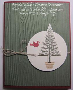 Festival of trees - artichoke woodgrain copy