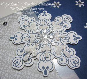 Letterpress navy snowflake - snow 2