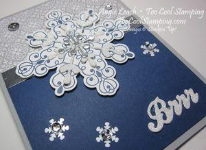 Letterpress navy snowflake - brrr 2