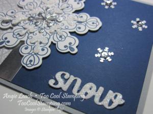 Letterpress navy snowflake - snow 4