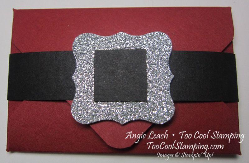 Santa buckle - gift card holder