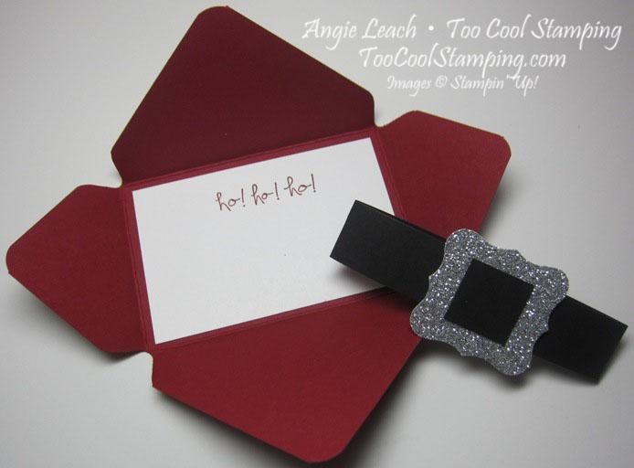 Santa buckle - gift card holder 2