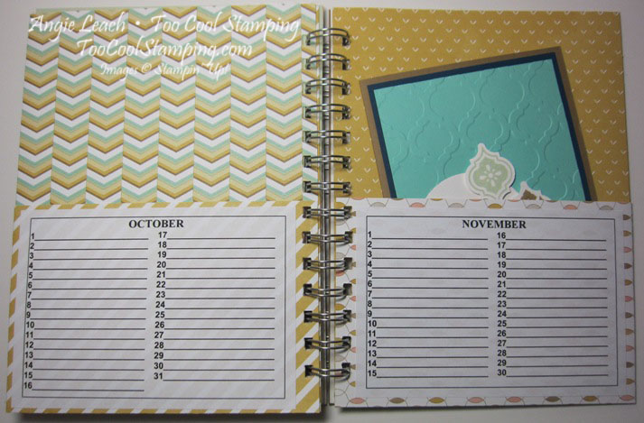 Card organizer - inside oct nov