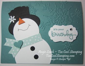 Snowman - its your birthday