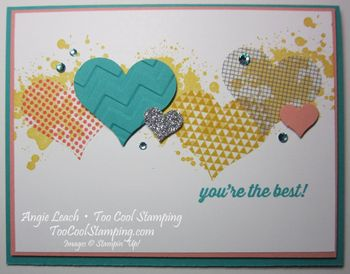 Washi sheet hearts - you're the best