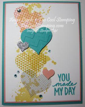 Washi sheet hearts - you made my day