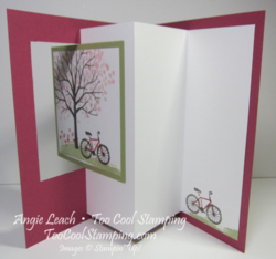 Pop out swing card - open 1