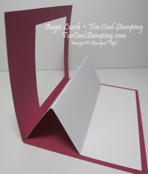 Sheltering tree pop out swing card - how to 1