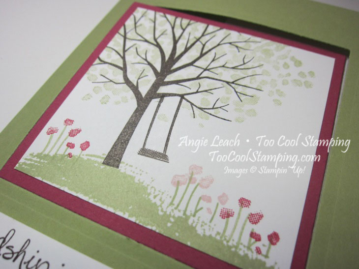 Sheltering tree pop out swing card - pear2