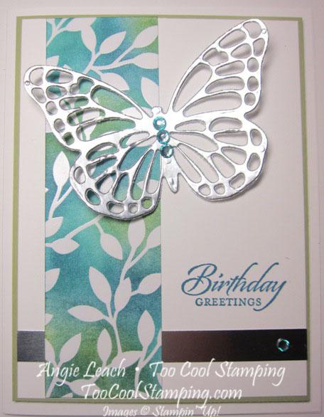 Irresistible silver butterfly - dark