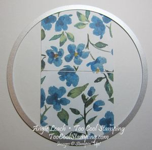 Painted blooms - ghirardelli holder tutorial 4