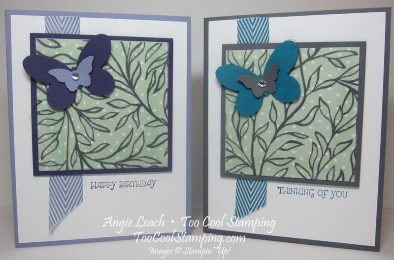 Dazzling vellum leaves - two cool