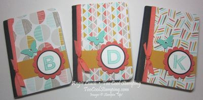 Monogramed notebook - three cool