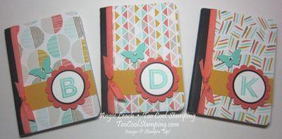 Monogramed notebook - three cool