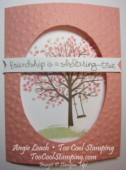 Sheltering tree tri-fold - cantaloupe