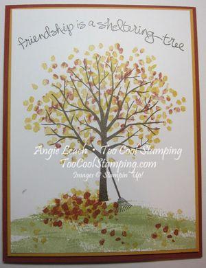 Sheltering tree autumn - one tree