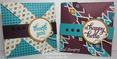 Bohemian pinwheel cards - two cool