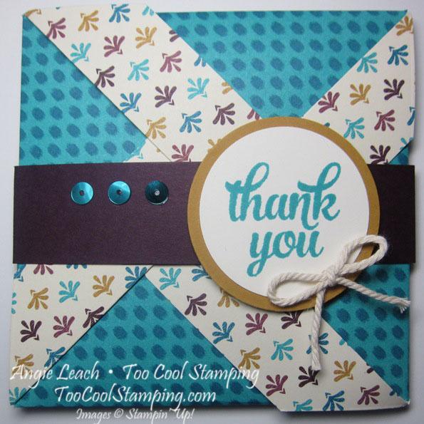 Bohemian pinwheel cards - bermuda thanks