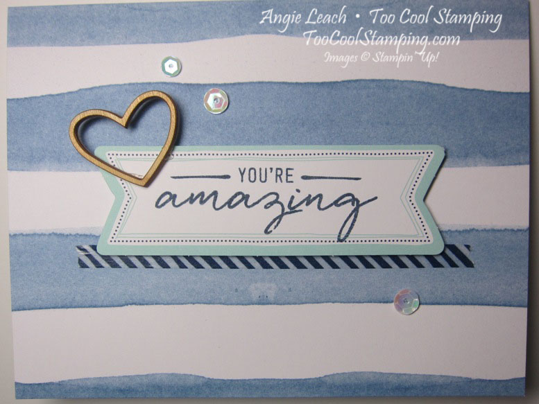 Watercolor Wishes - amazing navy stripes