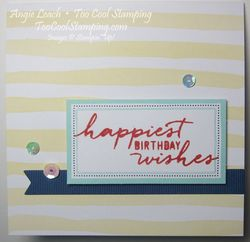 Watercolor Wishes - birthday yellow stripes2