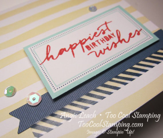 Watercolor Wishes - birthday yellow stripes