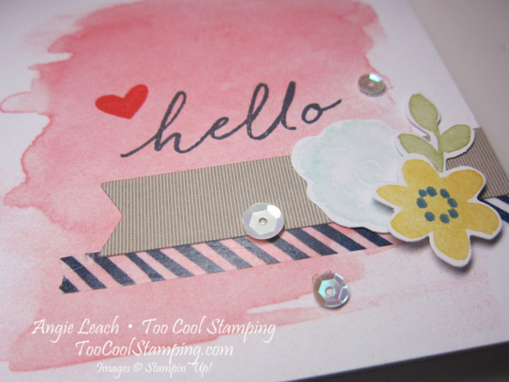 Watercolor Wishes - hello note