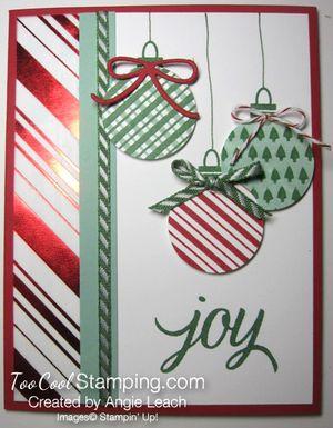 Stripes ornaments - green plaid